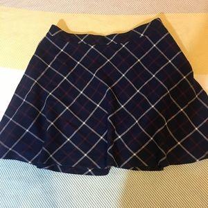 Forever 21 blue plaid skater skirt